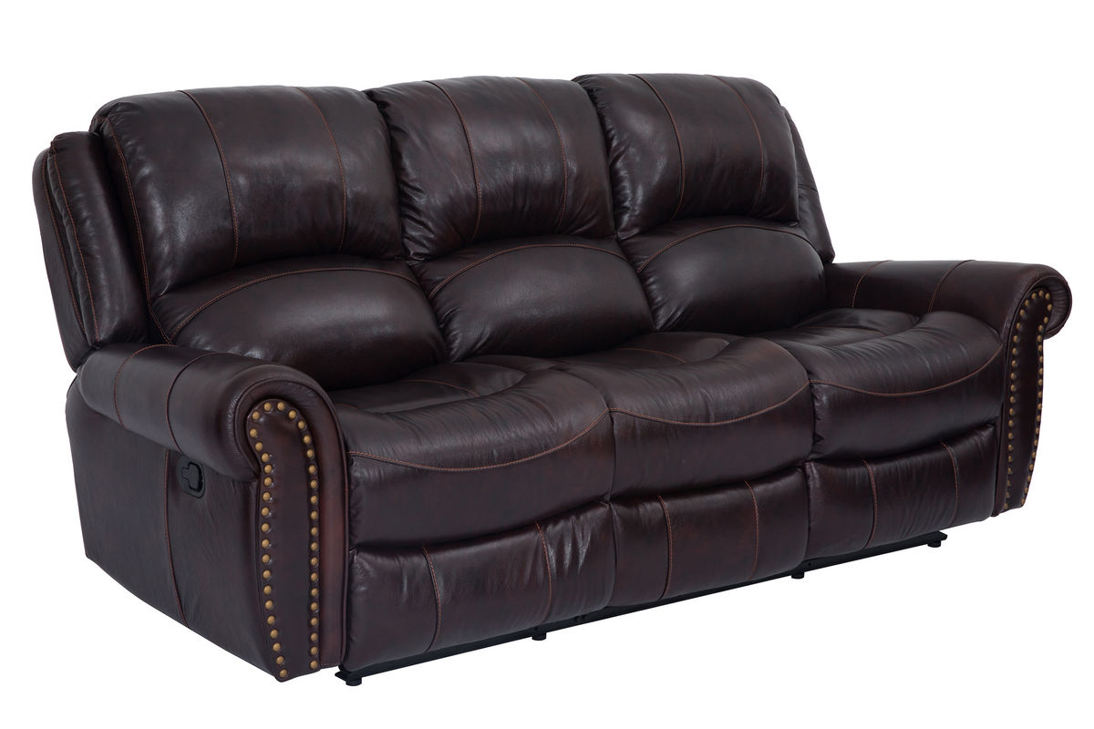 Superbe Westland Leather Reclining Sofa