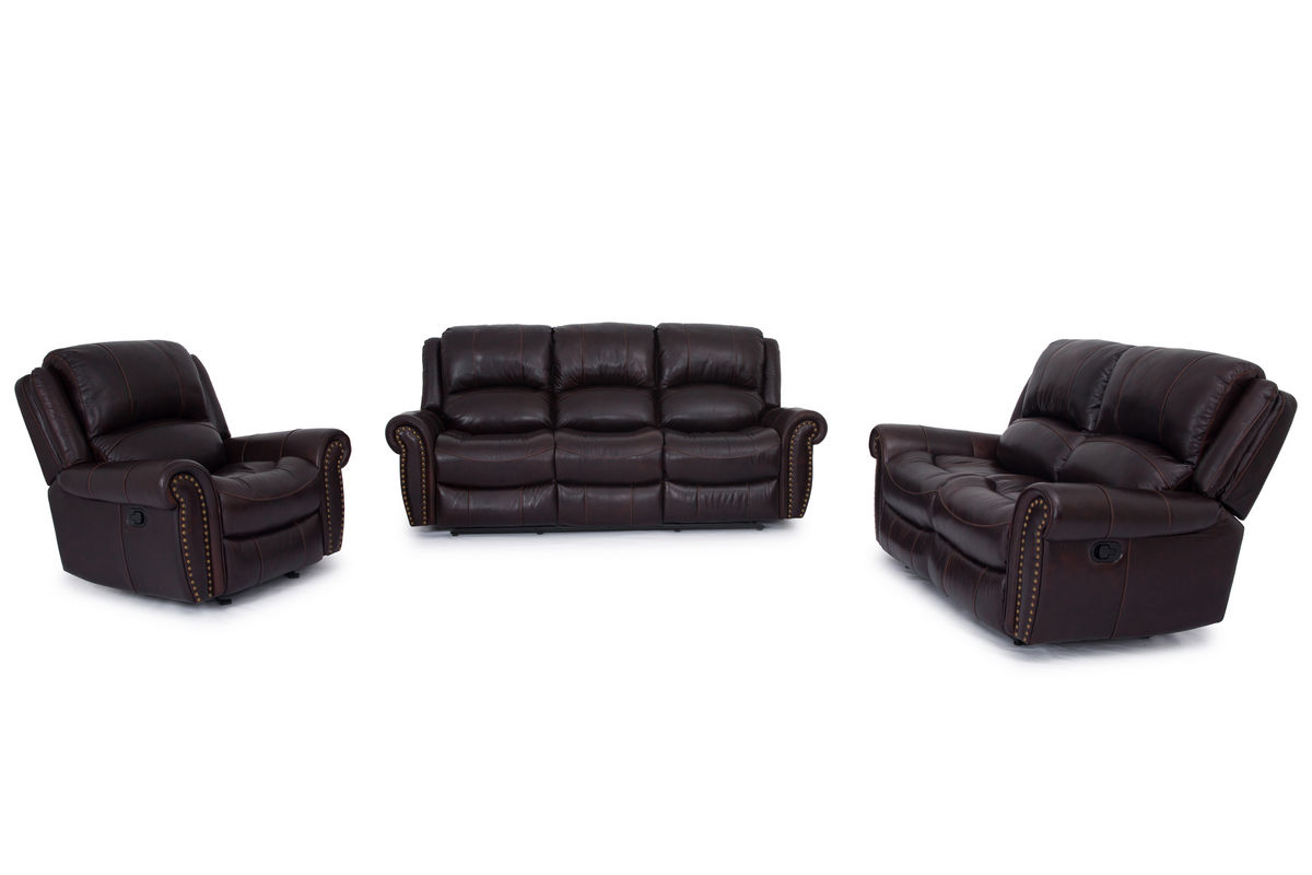 Westland Leather Reclining Sofa At Gardner White