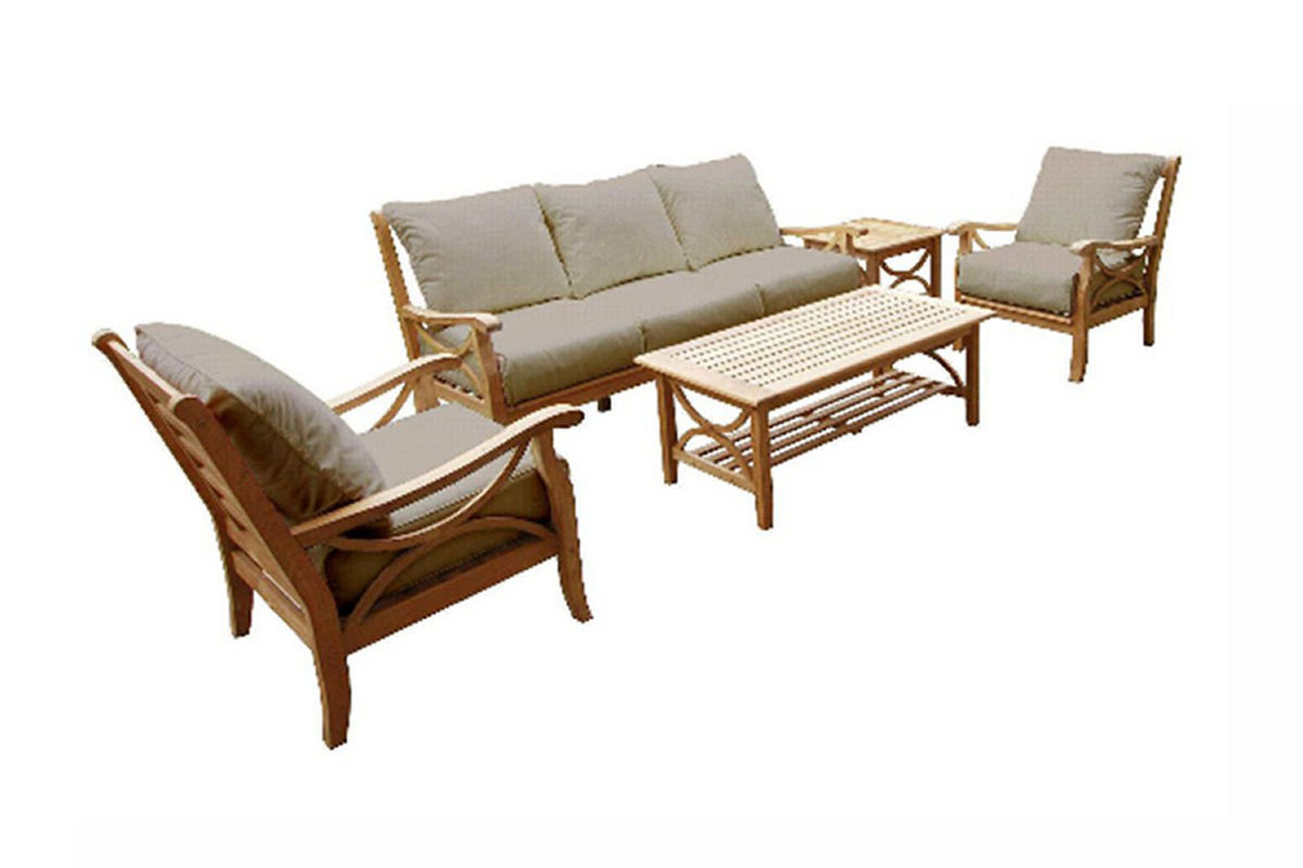 Hamptons 5-Piece Outdoor Patio Set from Gardner-White Furniture