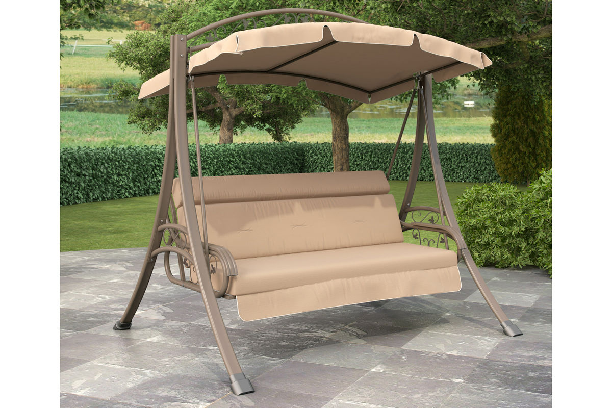 Nantucket Patio Swing With Arched Canopy