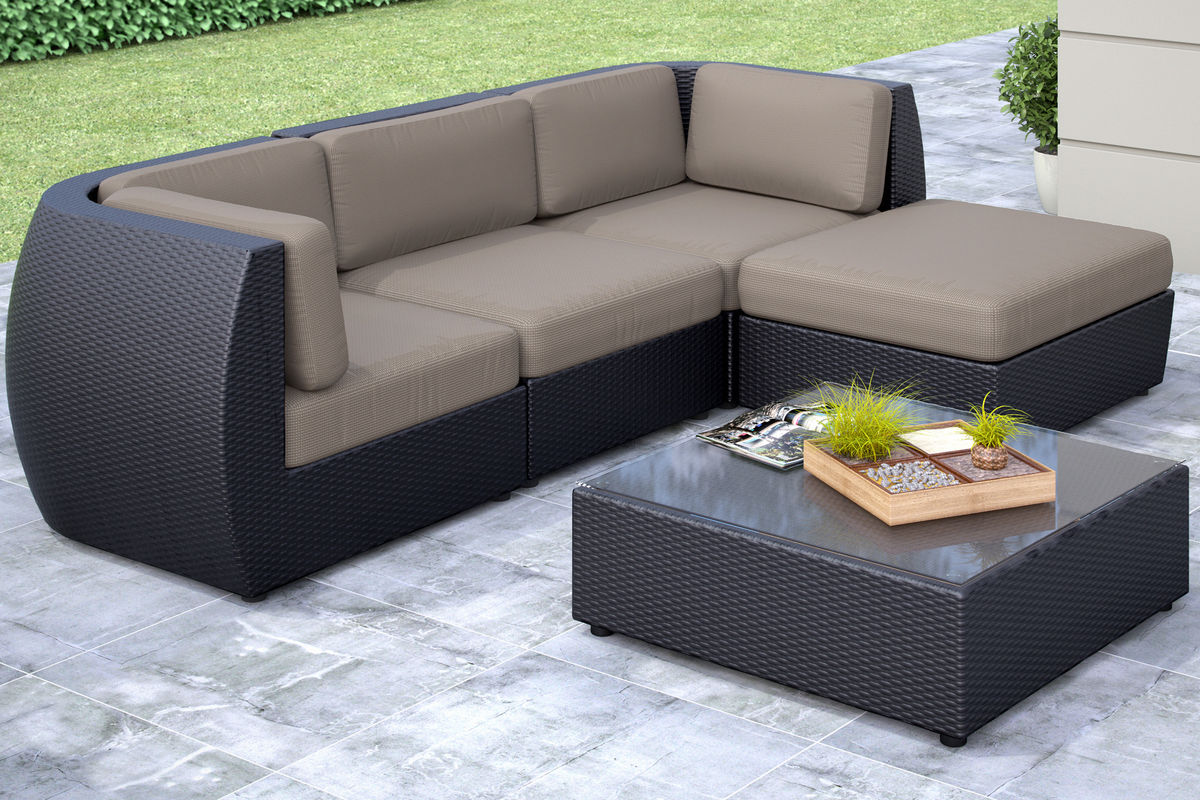 Seattle 5 piece sofa with chaise patio set at gardner white for 5 piece sectional sofa with chaise