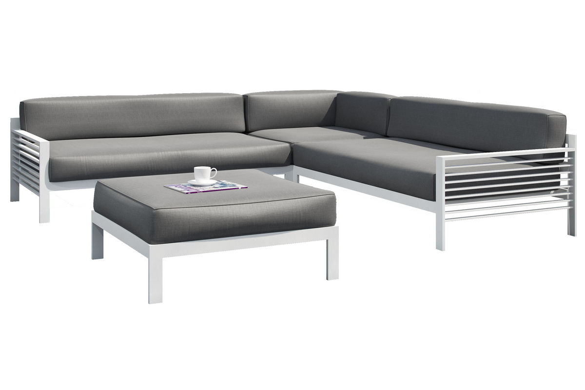 Nantucket 4-Piece Grey Patio Sectional Set from Gardner-White Furniture