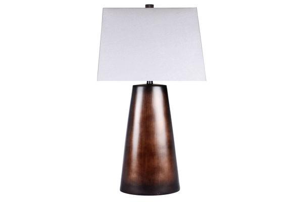 Shop lighting at gardner white brushed brown table lamp aloadofball Choice Image