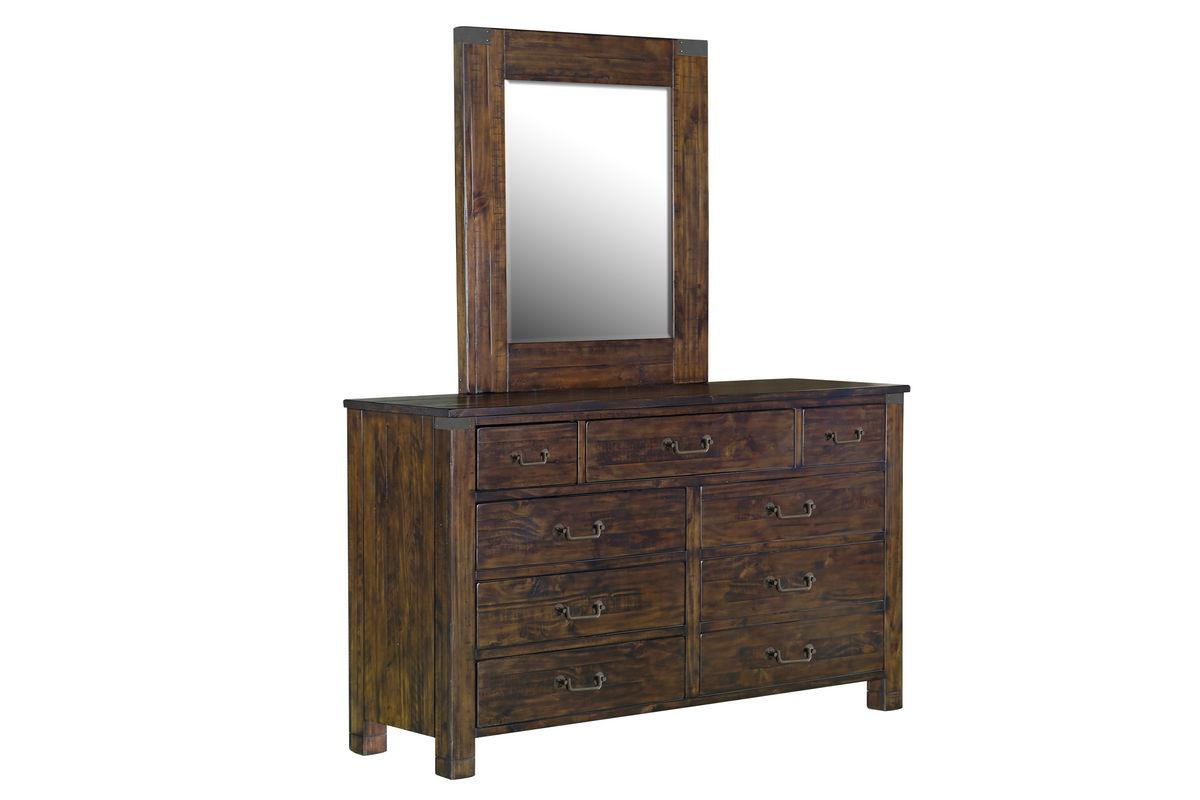Hillport Rustic Dresser + Mirror from Gardner-White Furniture