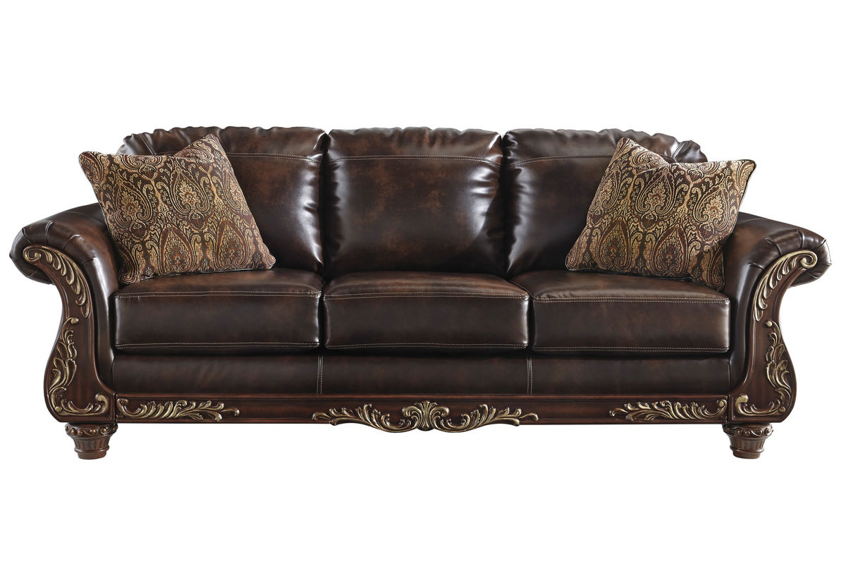 Captivating Vance Bonded Leather Sofa From Gardner White Furniture