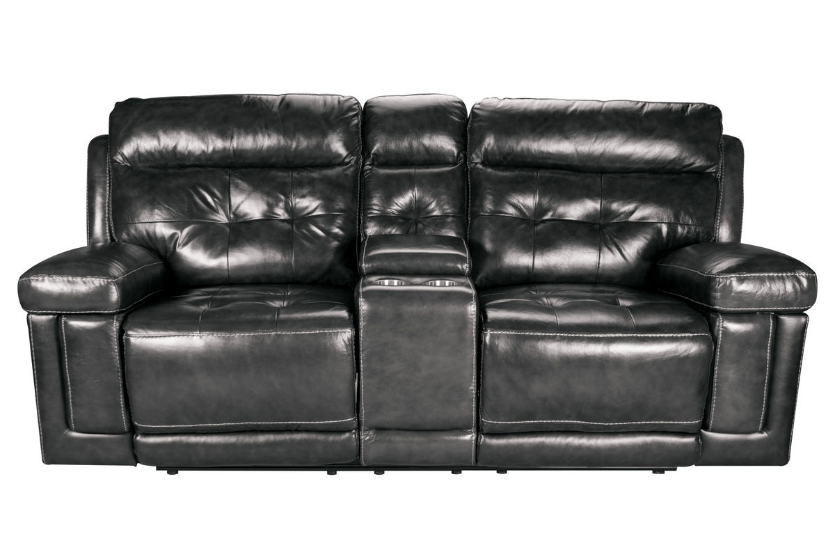 Dusty Leather Power Reclining Loveseat With Console At Gardner White