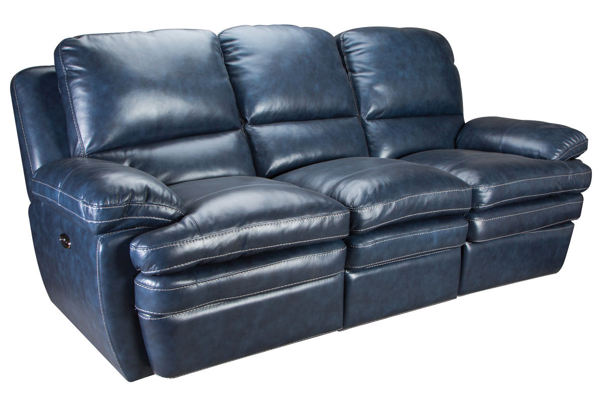 Mazarine power reclining leather sofa loveseat at for Furniture 60 months no interest