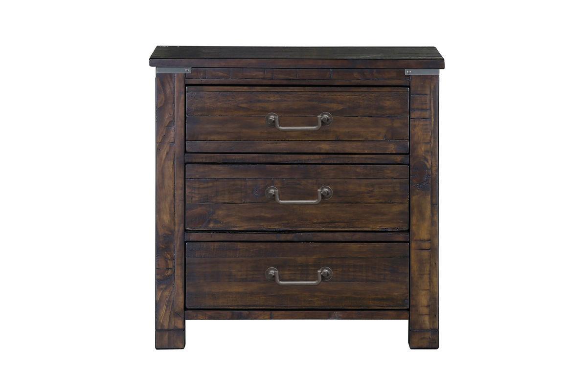 Hillport rustic nightstand at gardner white for Rustic nightstands