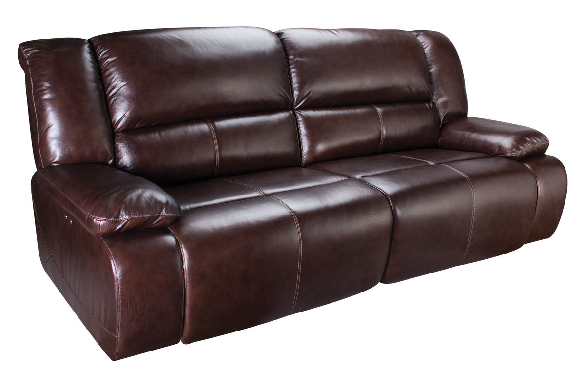 Amarillo Power Reclining Leather Sofa At Gardner White