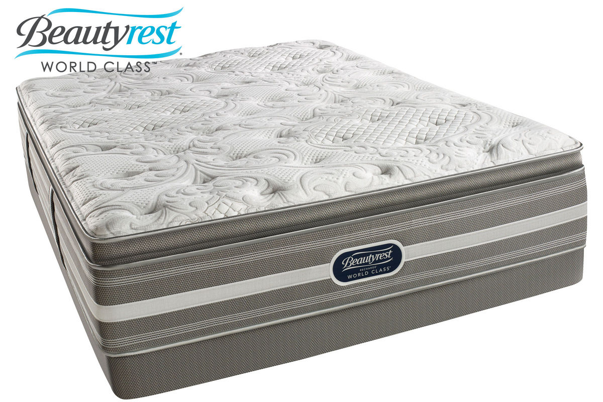 Beautyrest Recharge World Class Jaelyn Plush Pillow Top Queen Mattress