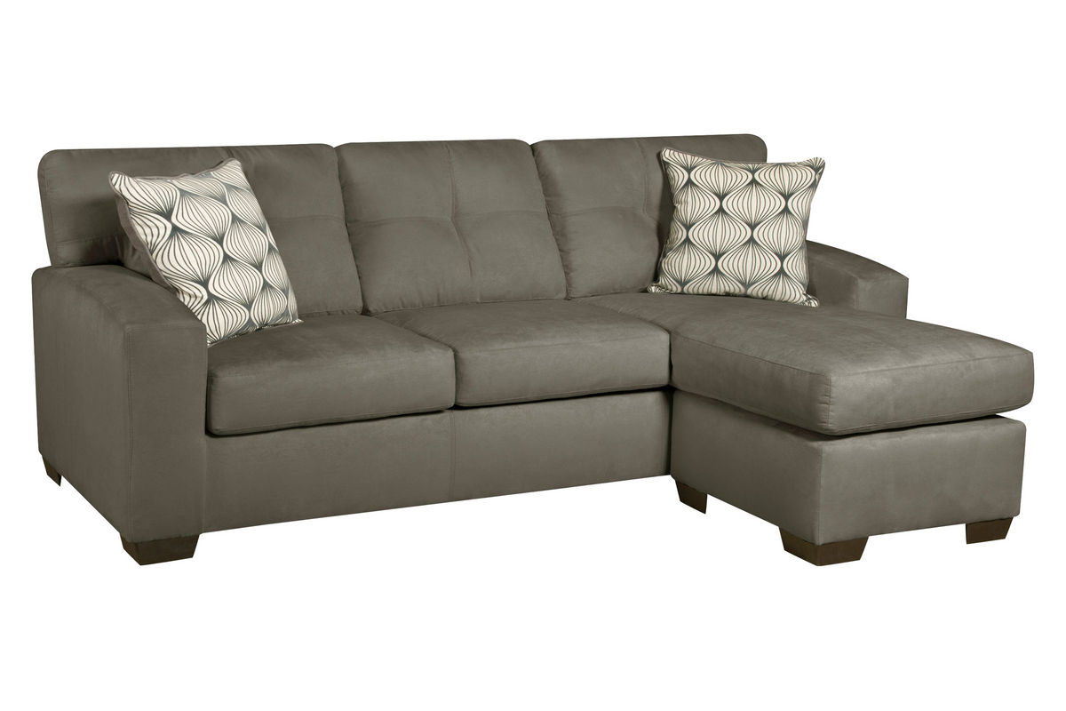 Dolphin microfiber sofa with chaise at gardner white for Chaise furniture sale