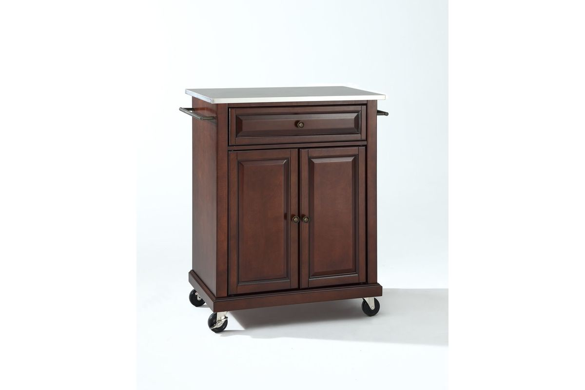 stainless steel portable kitchen island stainless steel top portable kitchen cart island in 25952