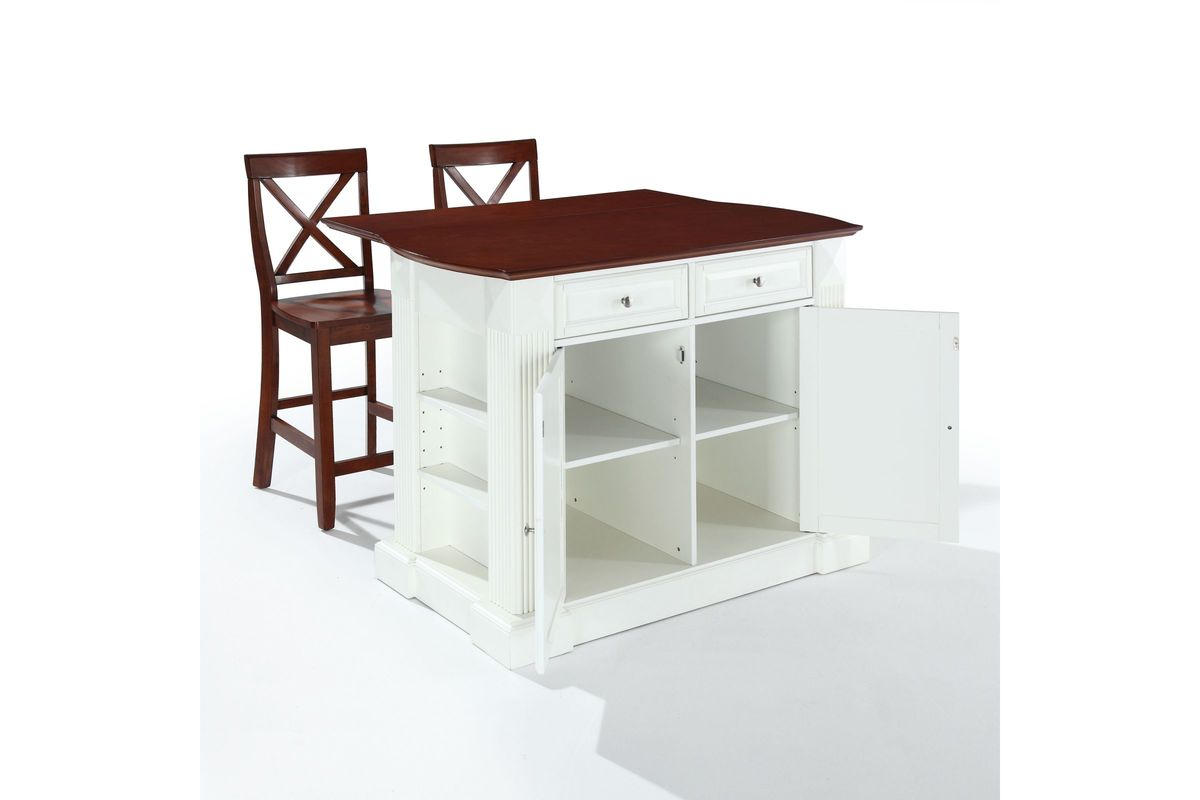 Coventry Drop Leaf Breakfast Bar Top Kitchen Island In