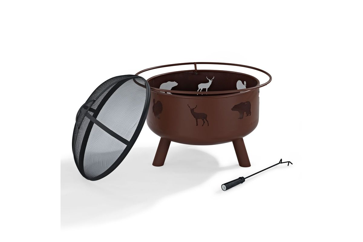 Durango Wildlife Firepit by Crosley from Gardner-White Furniture