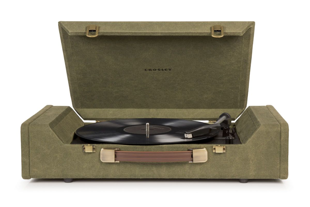 Nomad Portable Turntable in Green by Crosley from Gardner-White Furniture