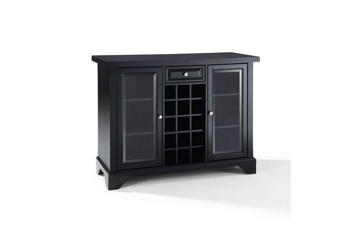 Lafayette Sliding Top Bar Cabinet In Black By Crosley From Gardner White Furniture