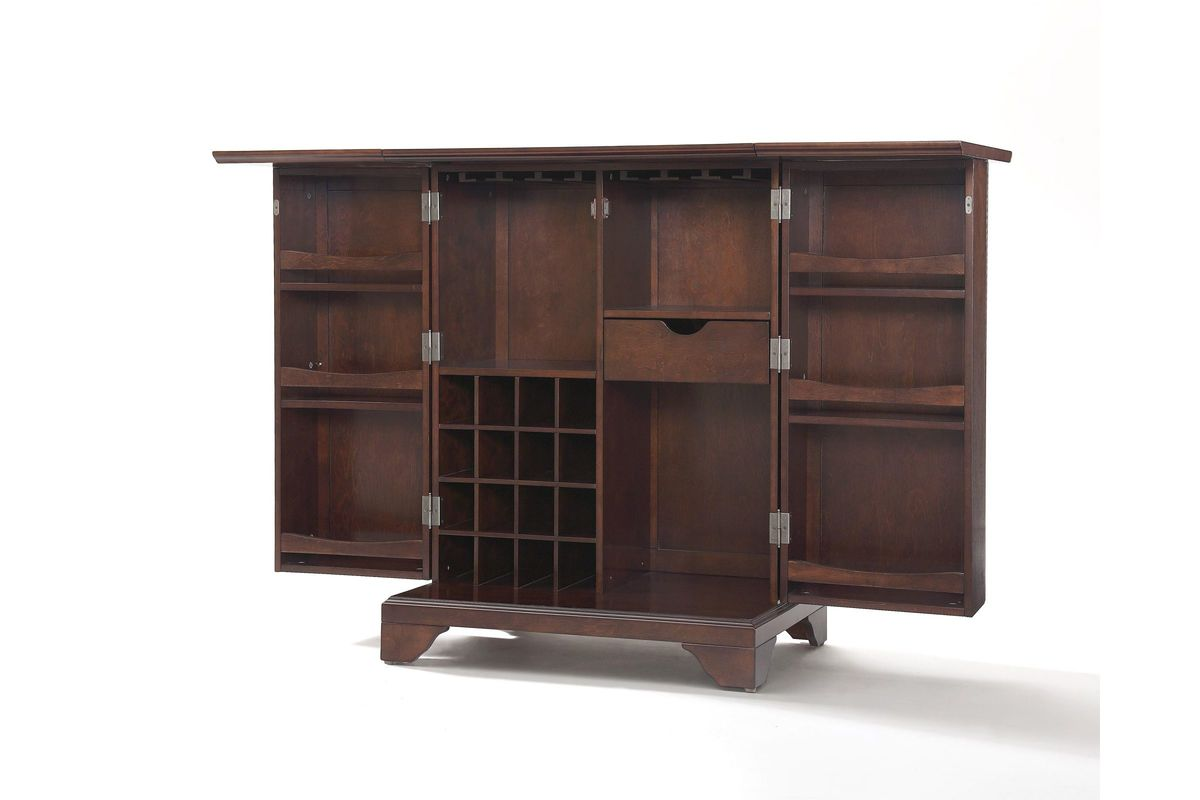 Lafayette Expandable Bar Cabinet in Vintage Mahogany by ...