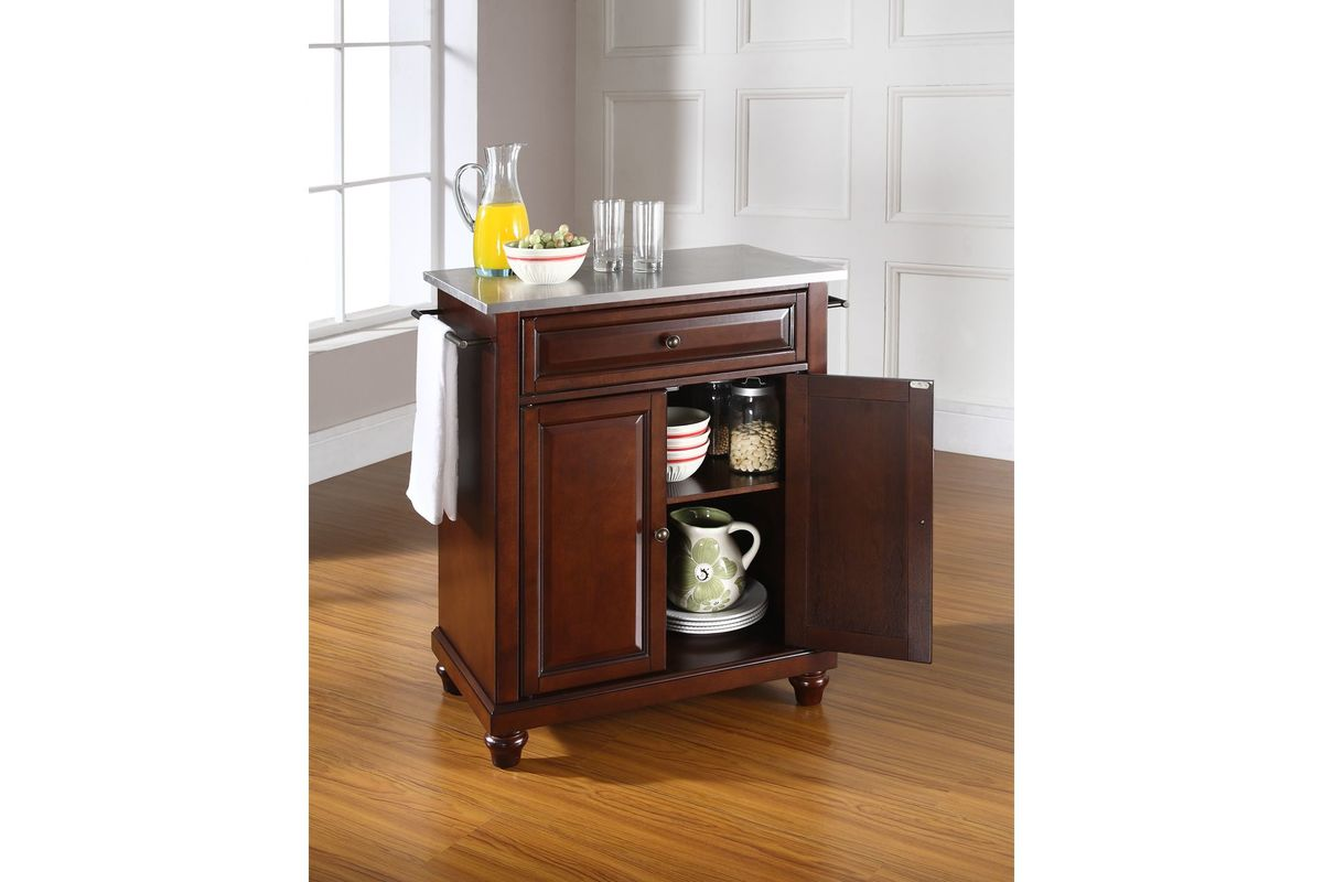 Cambridge Stainless Steel Top Portable Kitchen Island In