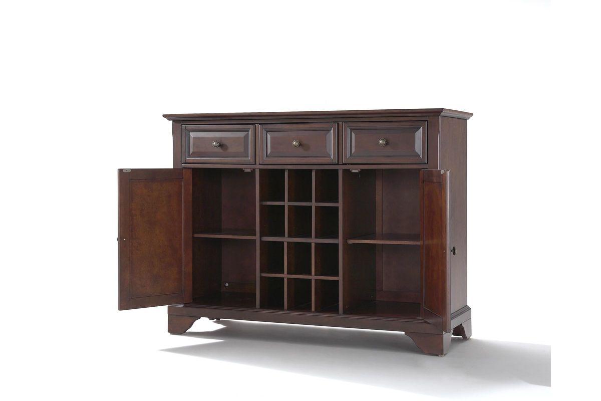 Lafayette Buffet Server/Sideboard Cabinet With Wine
