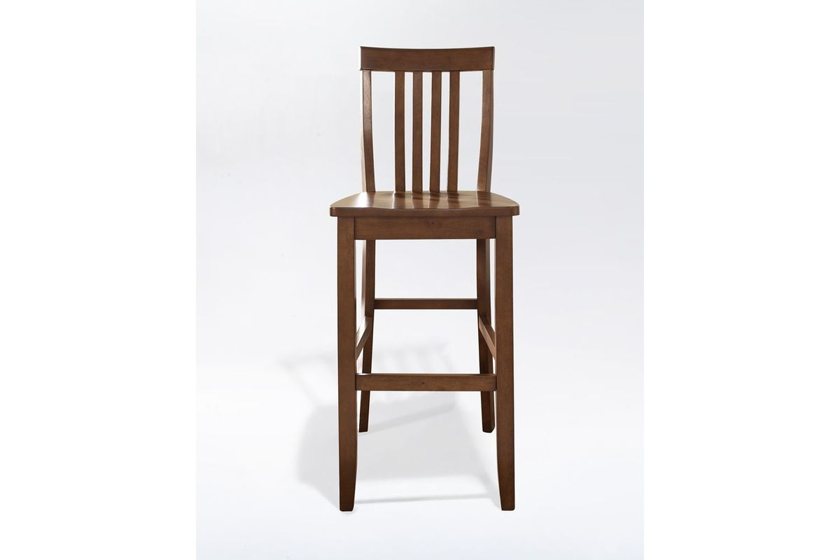 School House Bar Stool In Classic Cherry With 30 Inch Seat