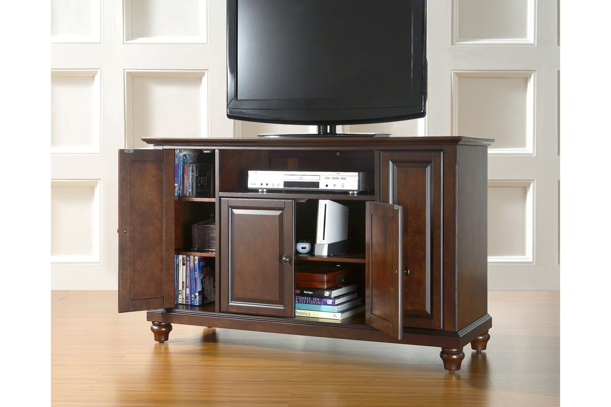 Cambridge 48 Tv Stand In Vintage Mahogany By Crosley At Gardner White