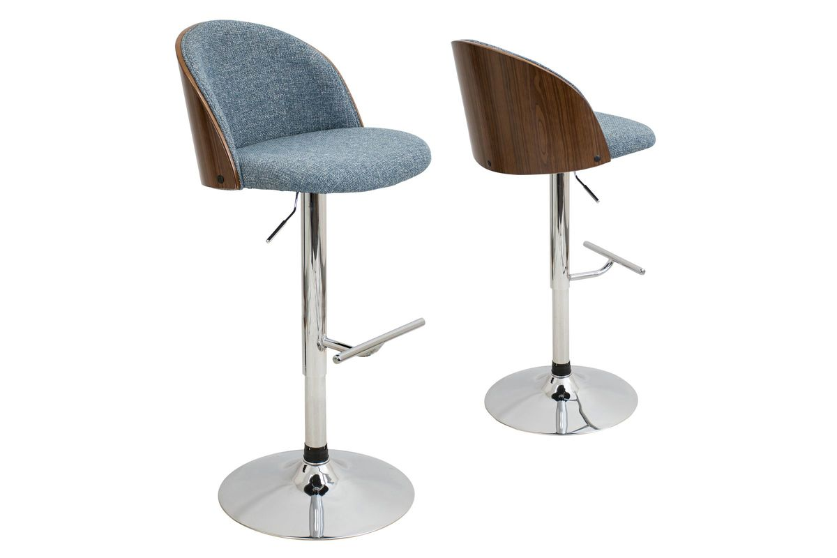 Awesome Luna Height Adjustable Barstool With Swivel In Blue By Lumisource Fdrop 161229 Uwap Interior Chair Design Uwaporg