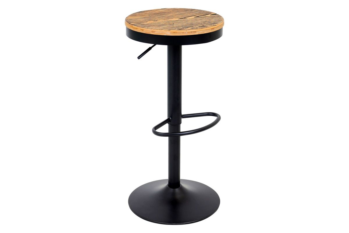 Dakota Height Adjustable Barstool with Swivel in Black by LumiSource from Gardner-White Furniture