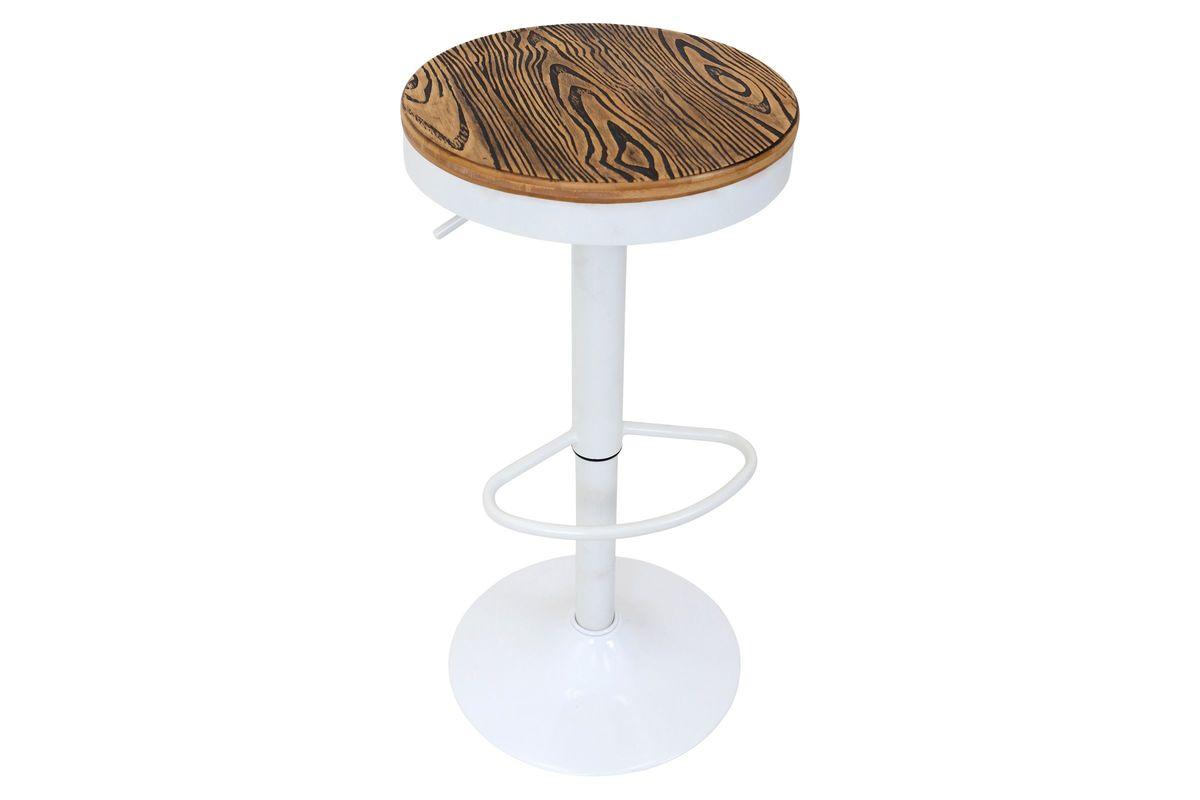 Dakota Height Adjustable Barstool With Swivel In White By