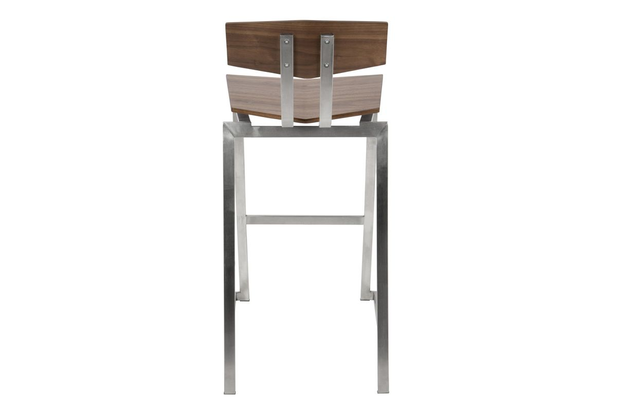Flight Contemporary Stainless Steel Counter Stool In