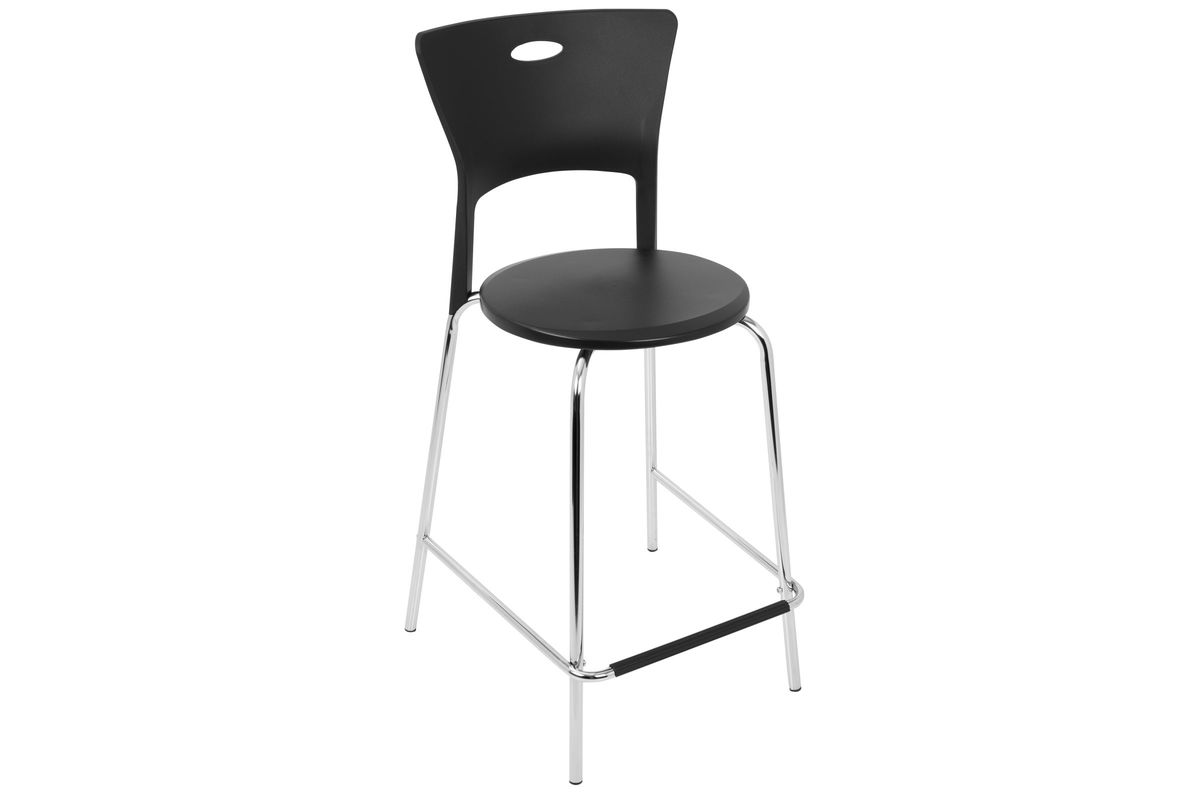 Magnificent Mimi Counter Stool In Black And Chrome Set Of 2 By Lumisource Fdrop 161229 Evergreenethics Interior Chair Design Evergreenethicsorg