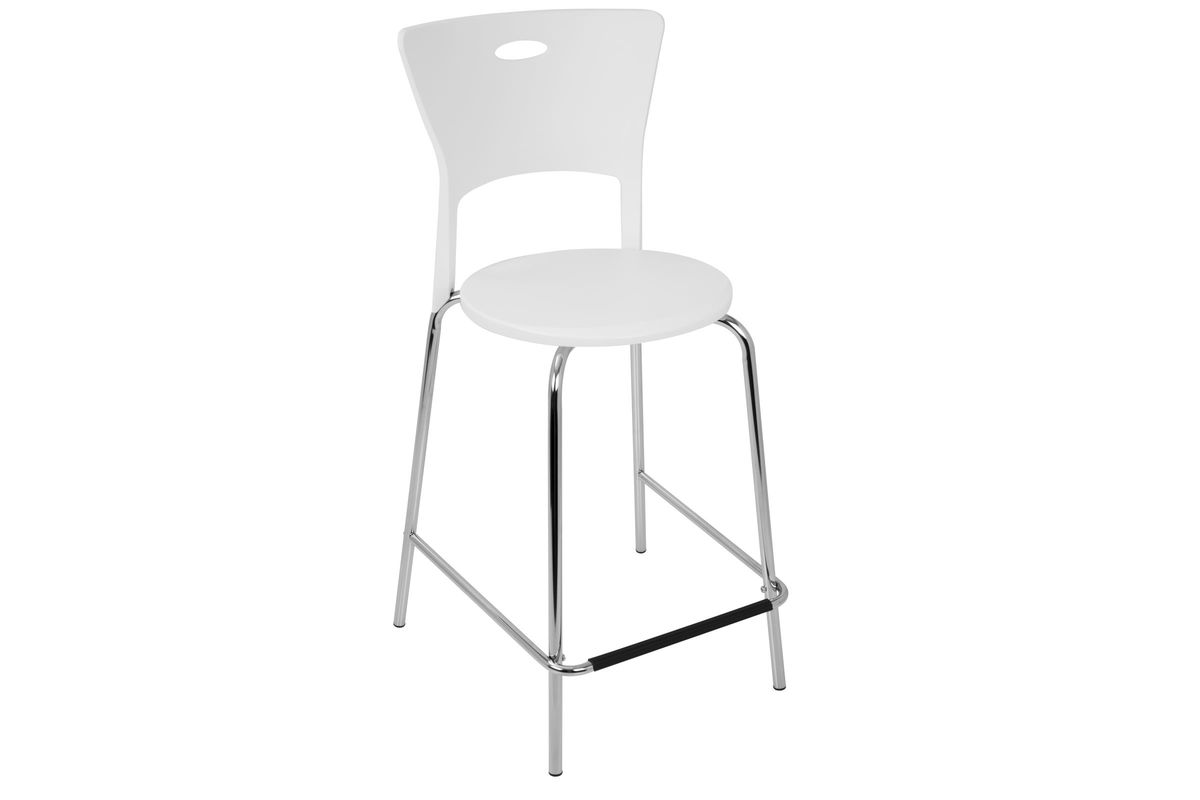 Awe Inspiring Mimi 24 Counterstool In White And Chrome Set Of 2 By Lumisource Fdrop 161229 Evergreenethics Interior Chair Design Evergreenethicsorg