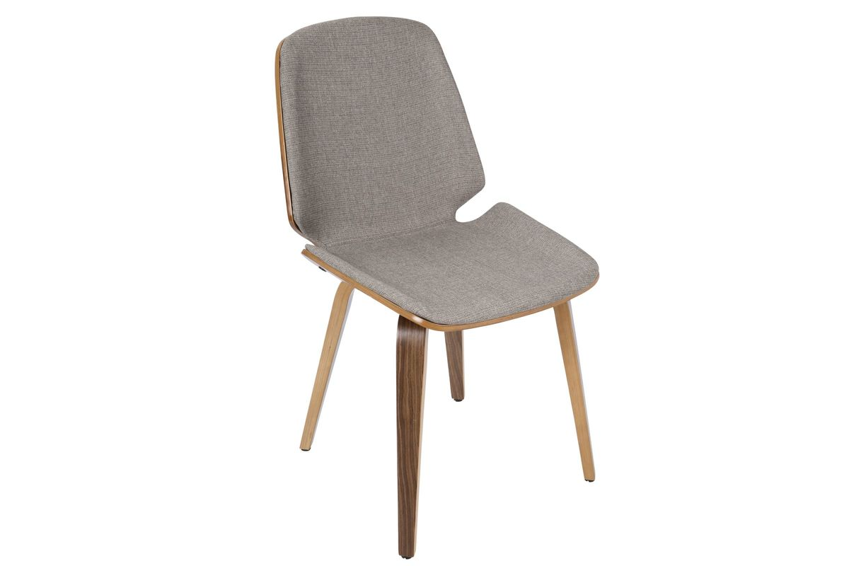 Serena Mid Century Modern Dining Chairs In Light Grey