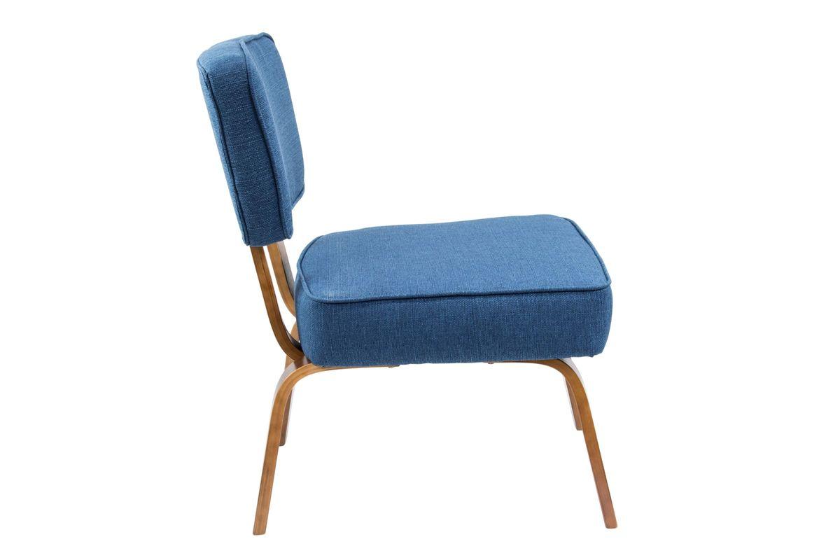 Nunzio Mid-Century Modern Accent Chair in Navy Blue by LumiSource