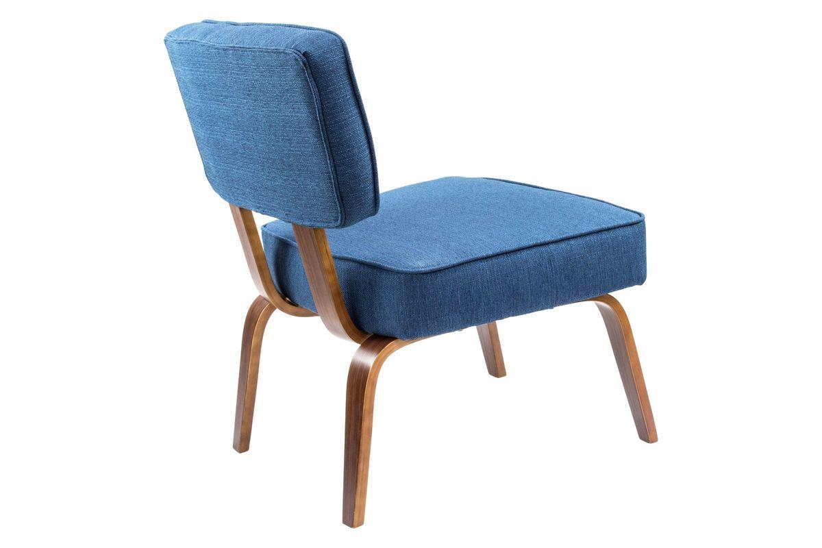 Nunzio Mid Century Modern Accent Chair In Navy Blue By