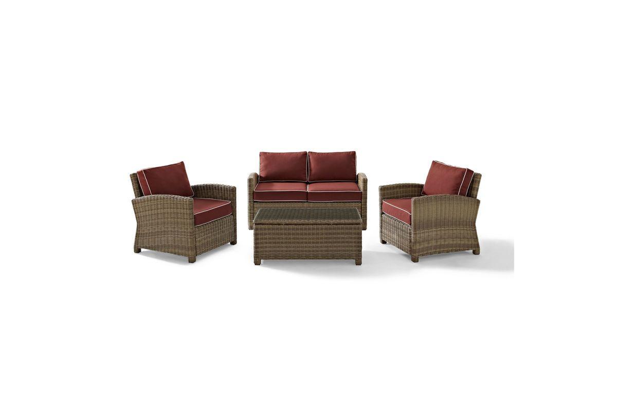 Bradenton Sangria 4 Piece Outdoor Seating Set by Crosley from Gardner-White Furniture