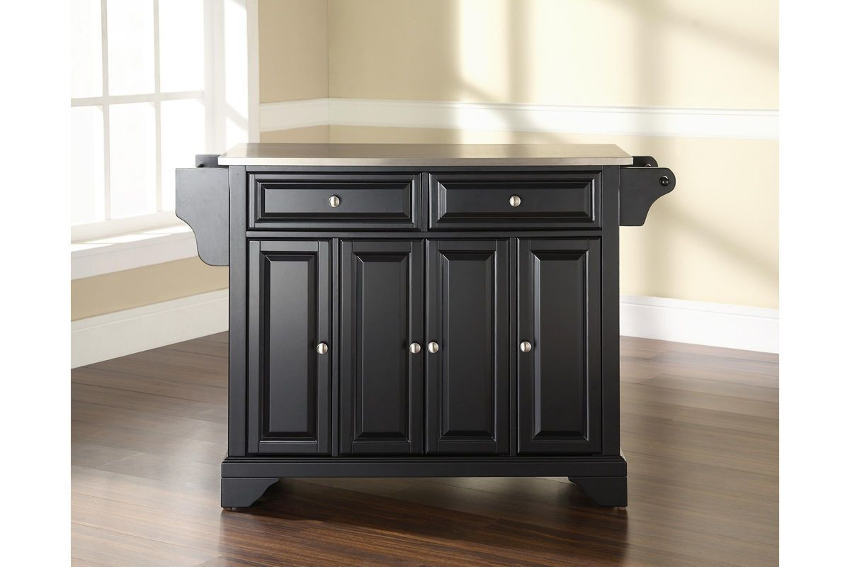 kitchen islands with stainless steel tops lafayette stainless steel top kitchen island in black by 9476