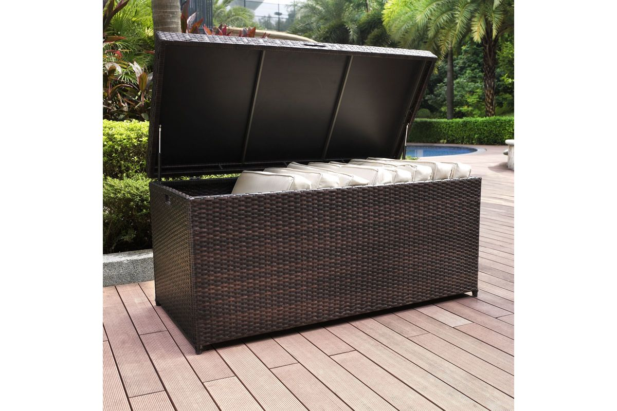 Palm Harbor Outdoor Storage Bin In Brown By Crosley At