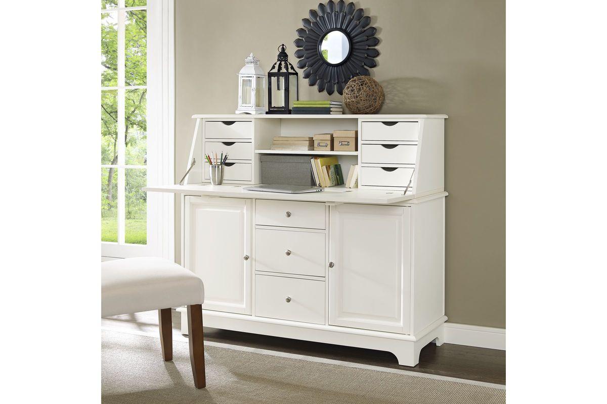 Sullivan Secretary Desk In White By Crosley