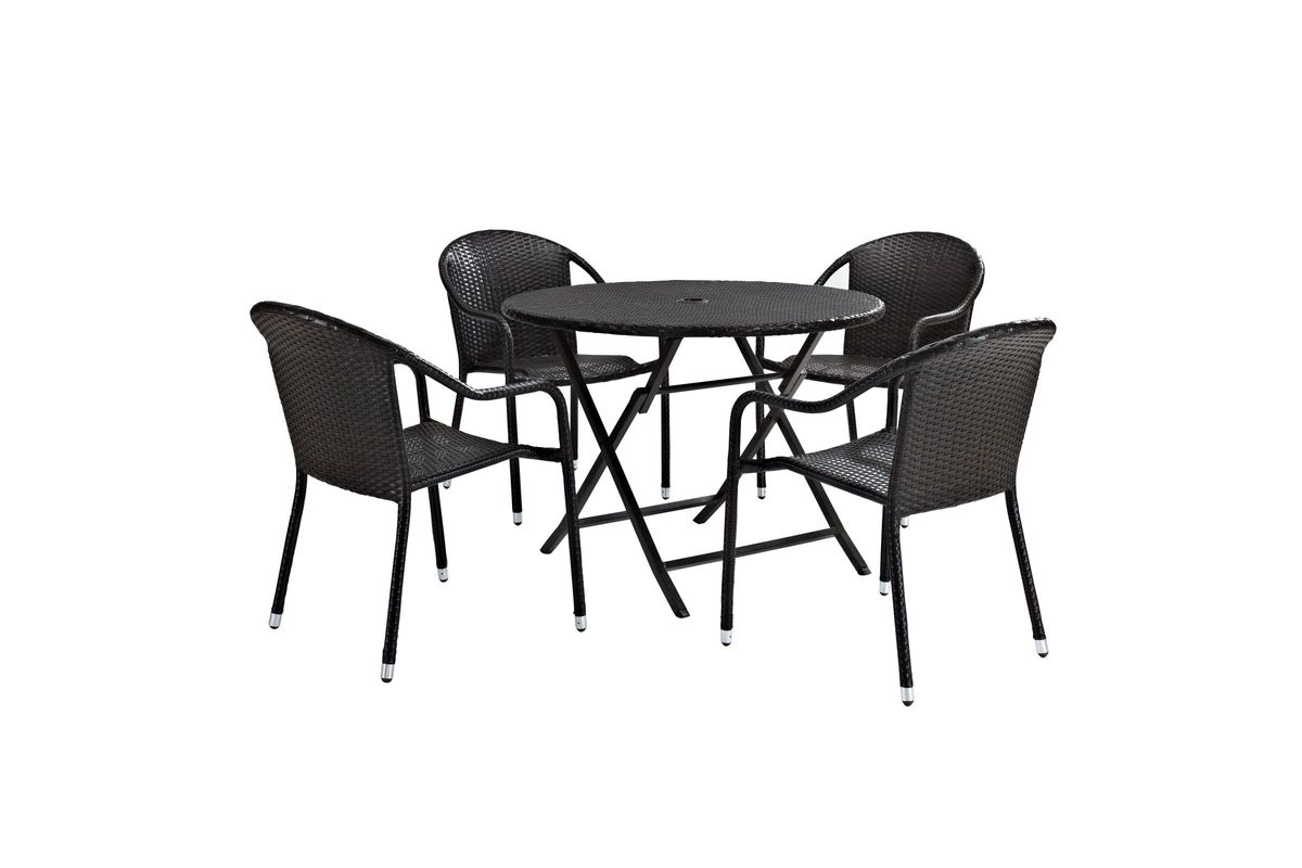 Superbe Palm Harbor 5 Piece Cafe Dining Set In Brown By Crosley From Gardner White  Furniture