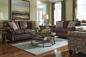 Breville Brown With Nailhead Sleeper Sofa