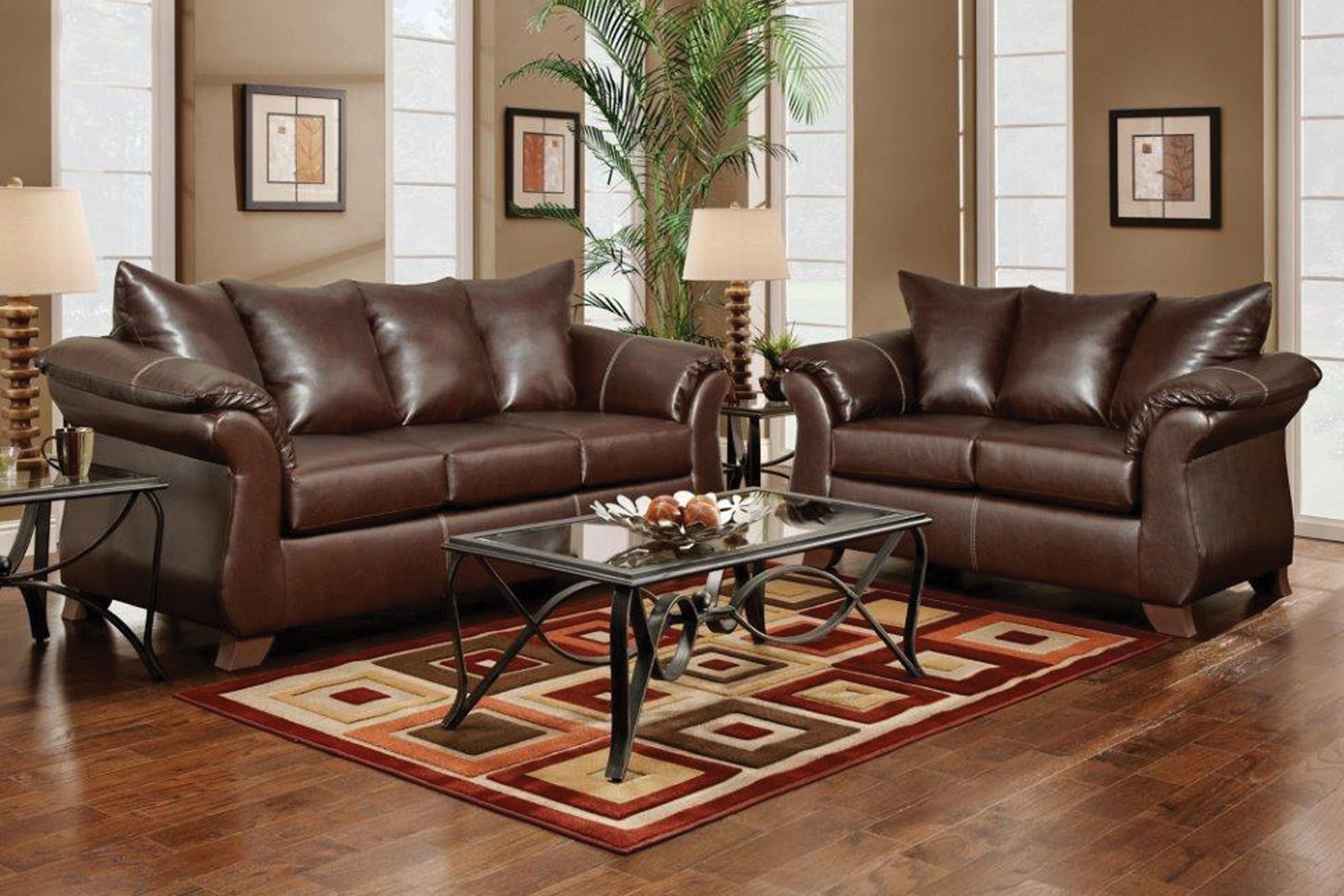 Bailey Leather Sofa & Loveseat