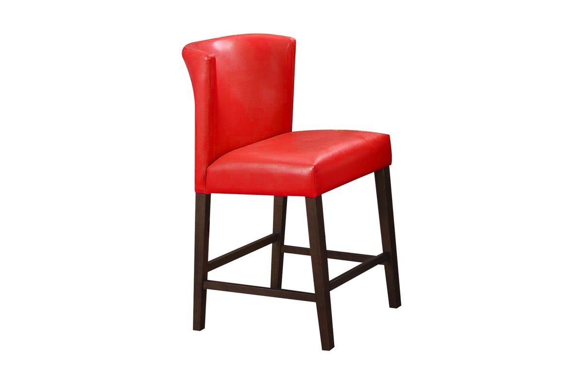 Fleming Red Pub Stool from Gardner-White Furniture