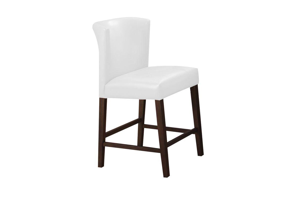 Fleming White Pub Stool from Gardner-White Furniture