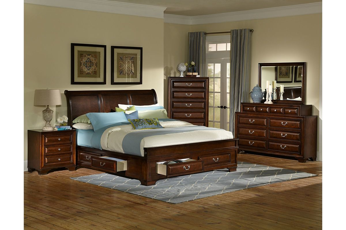 cadence 5 piece queen bedroom set at gardner white. Black Bedroom Furniture Sets. Home Design Ideas