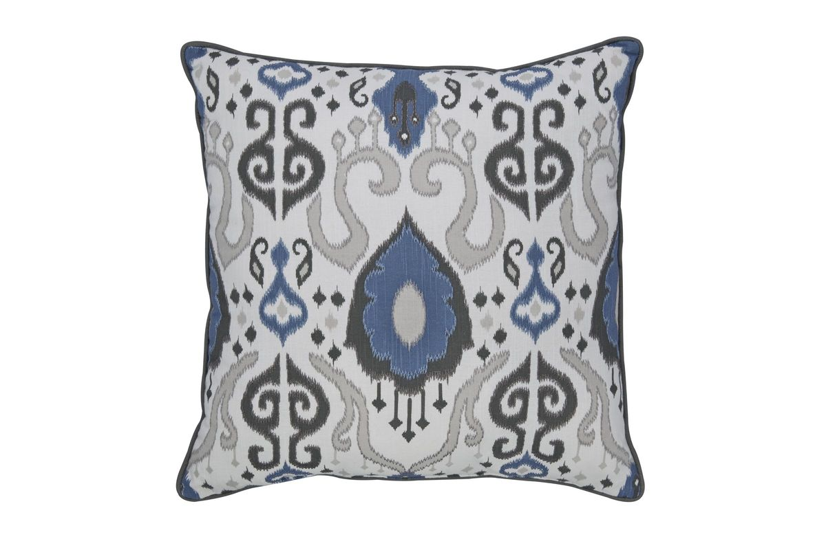 Damaria Pillow in Blue/Ivory/Brown by Ashley from Gardner-White Furniture