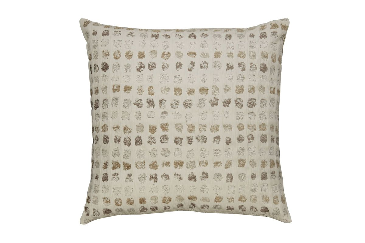Whitehurst Pillow in Cream/Taupe by Ashley from Gardner-White Furniture