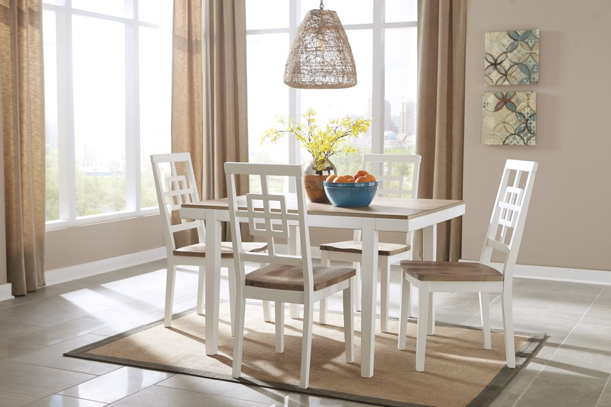 Brovada Dining Table + 4 Chairs by Ashley & Brovada Dining Table + 4 Chairs by Ashley at Gardner-White