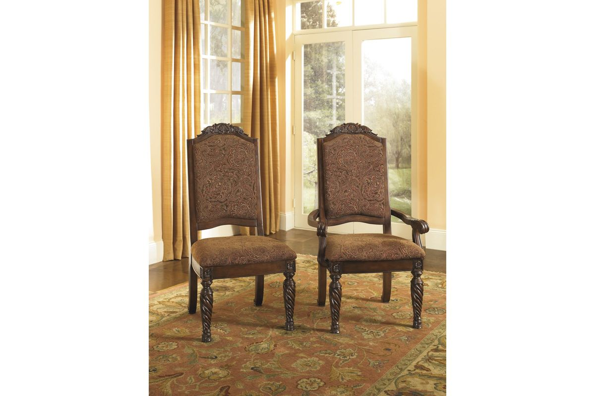 North Shore Dining Arm Chairs in Dark Brown Set of 2 by Ashley