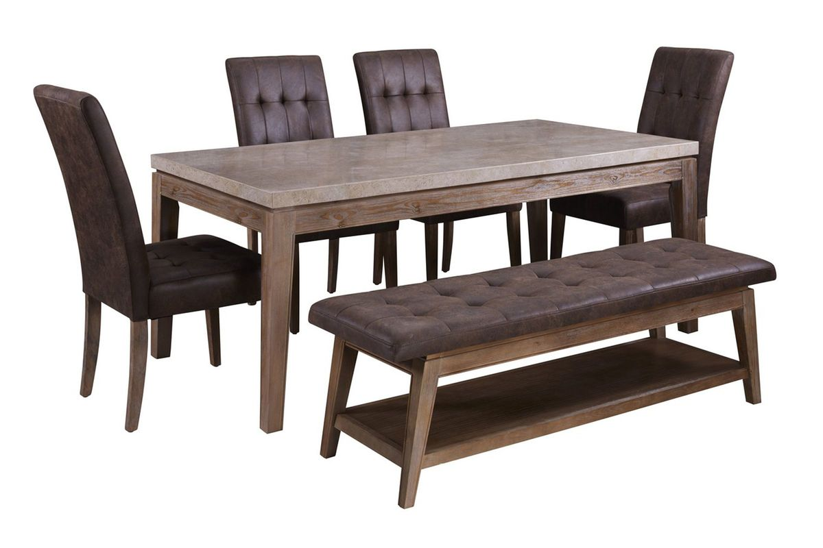 Vintage Dining Table 4 Dark Brown Dining Chairs At