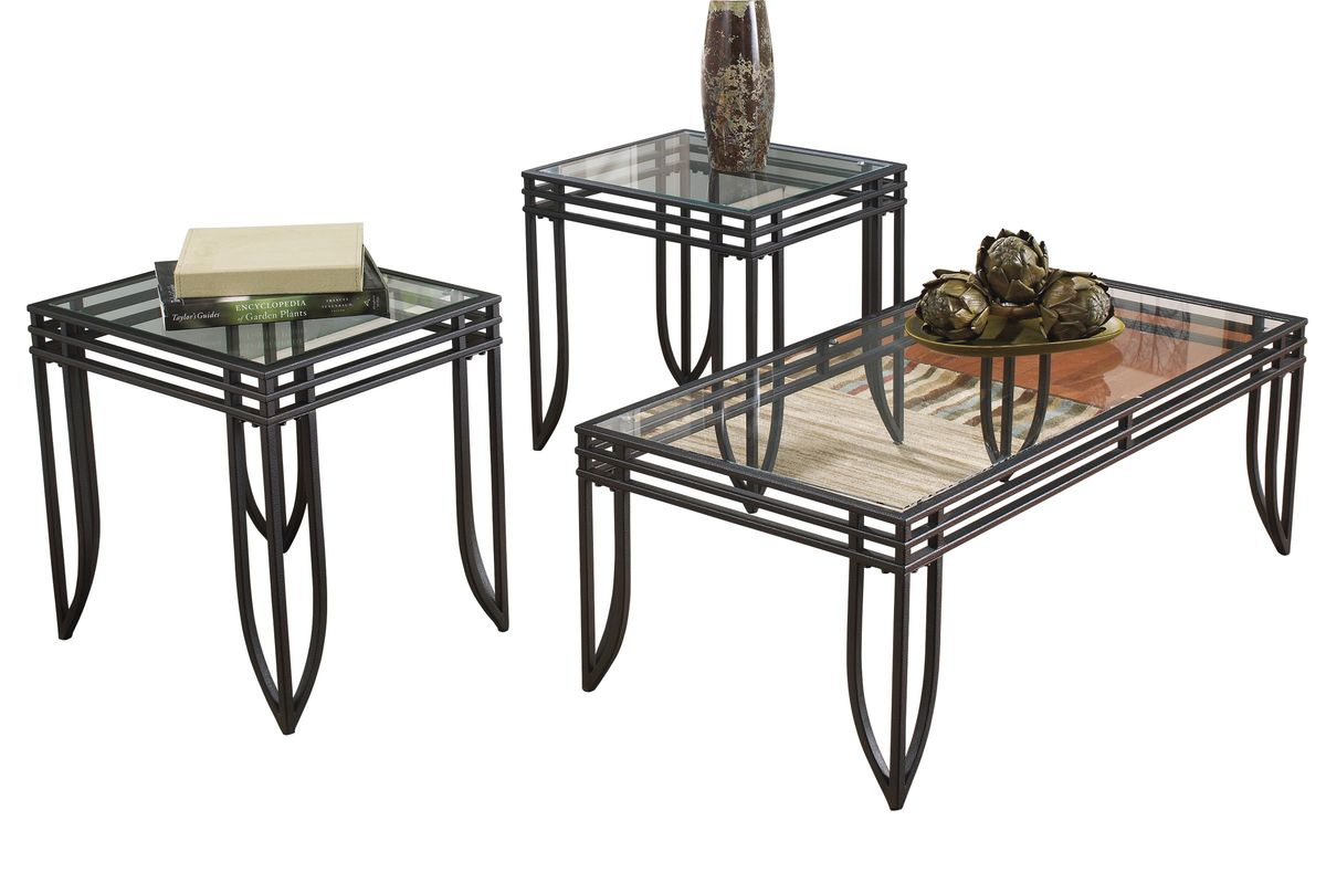 Exeter Occasional Table Set Of By Ashley At GardnerWhite - Ashley metal coffee table